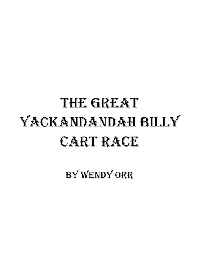 The Great Yackandandah Billy Cart Race